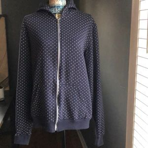 American Apparel Navy and polka dot sweatshirt
